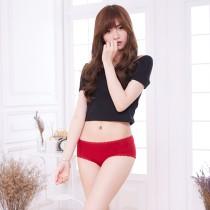 【Neoner潔柔】銀離子殺菌除臭天絲棉中腰內褲蕾絲款-暗紅