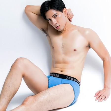 Trumanner莫代爾快適彈力男褲中腰三角款-藍色