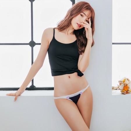 【Skylie銀離子】窄邊天絲棉比基尼低腰褲-深紫