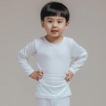 【L.K.】薄款童款氣暖絨保溫發熱衣-白