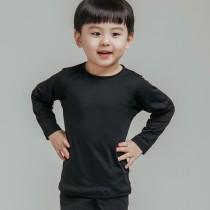 【L.K.】薄款童款氣暖絨保溫發熱衣-黑