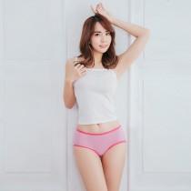 【Neoner銀離子】天絲棉彈性飾邊中腰款-粉紅