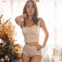 【Neoner銀離子】蕾絲輕束腹高腰褲-白色