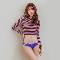 【Skylie銀離子】甜蜜翹臀低腰款-紫