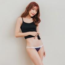 Skylie銀離子】窄邊天絲棉低比基尼褲-深紫
