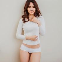 【Skylie銀離子】典雅絲柔低腰內褲-白色