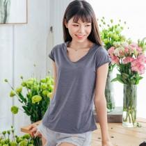 【Neoner涼感】超細涼絲包袖圓領T恤-鐵灰