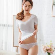 【Neoner銀離子】彈性親膚薄絲中腰褲-白色