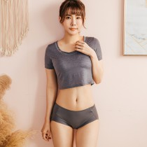 【Neoner銀離子】天絲棉超柔摺邊褲-鐵灰