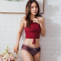 【Skylie銀離子】經典透膚低腰內褲-迷霧紫