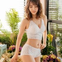 【Neoner銀離子】立體鏤空蕾絲中腰褲-米白色