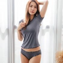 【Neoner銀離子】彈性親膚薄絲中腰褲-鐵灰