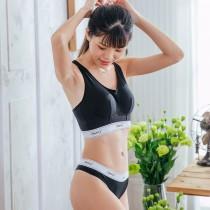 【Skylie銀離子】運動健身款天絲棉低腰丁字褲-黑