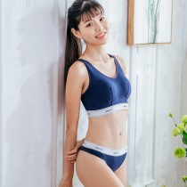 【Skylie銀離子】運動健身款天絲棉低腰丁字褲-藏青