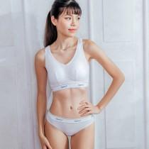 【Skylie銀離子】運動健身款天絲棉低腰丁字褲-白