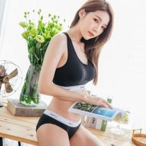 【Skylie銀離子】運動健身款天絲棉低腰包覆款-黑