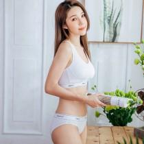 【Skylie銀離子】運動健身款天絲棉低腰包覆款-白
